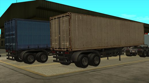 GTA V Container & Curtainside Trailers