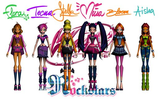 Winx Club Rock Band from Winx Club Rockstars
