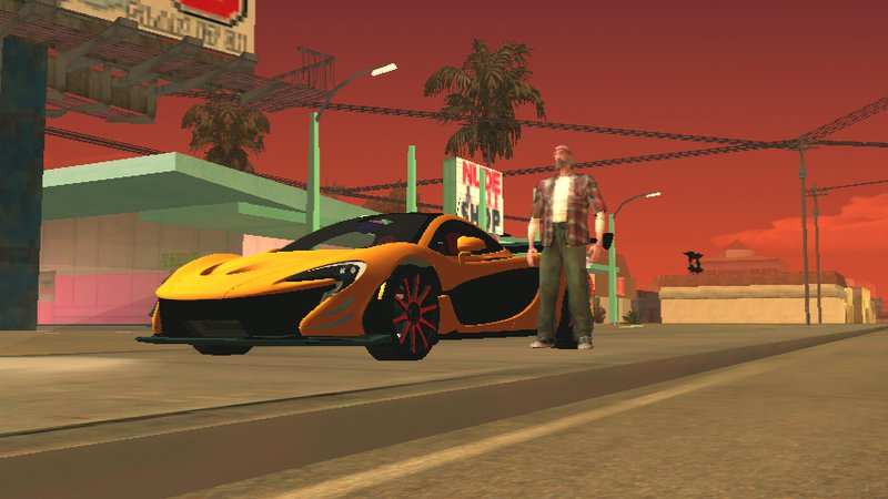 GTA San Andreas McLaren P1 Dff Only No Txd For Android Mod