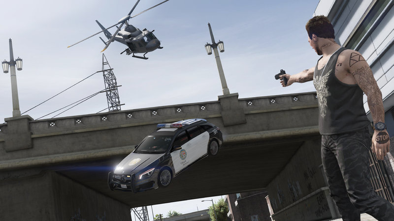 Gta 5 Mercedes Cla 45 Amg Shooting Brake Police Mod
