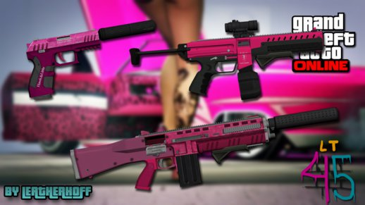 Pink Weapons Pack from GTA V PC #2