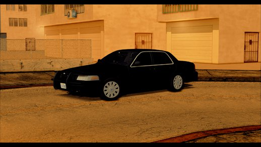 2011 Unmarked Crown Victoria - Cvpi Release (colorable)