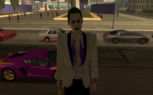 Joker White Suit 2.0 (with car and gun)