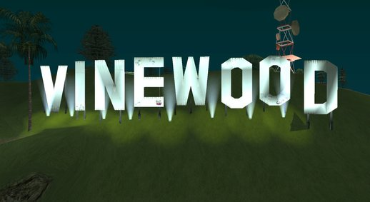 Vinewood Sign From GTA V 3.0 Final