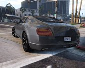 2014 Bentley Continental GT [Add-On]