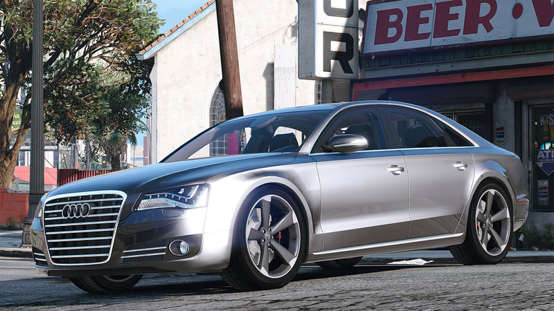 Gta V 2010 Audi A8 Fsi Add On Replace V4 0 Gta Bear