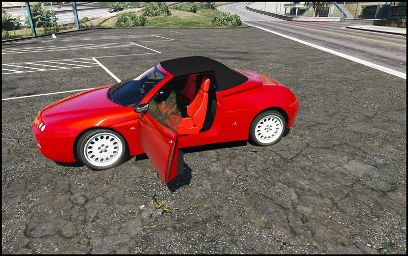 gta 5 alfa romeo spider 916 add on replace mod. Black Bedroom Furniture Sets. Home Design Ideas