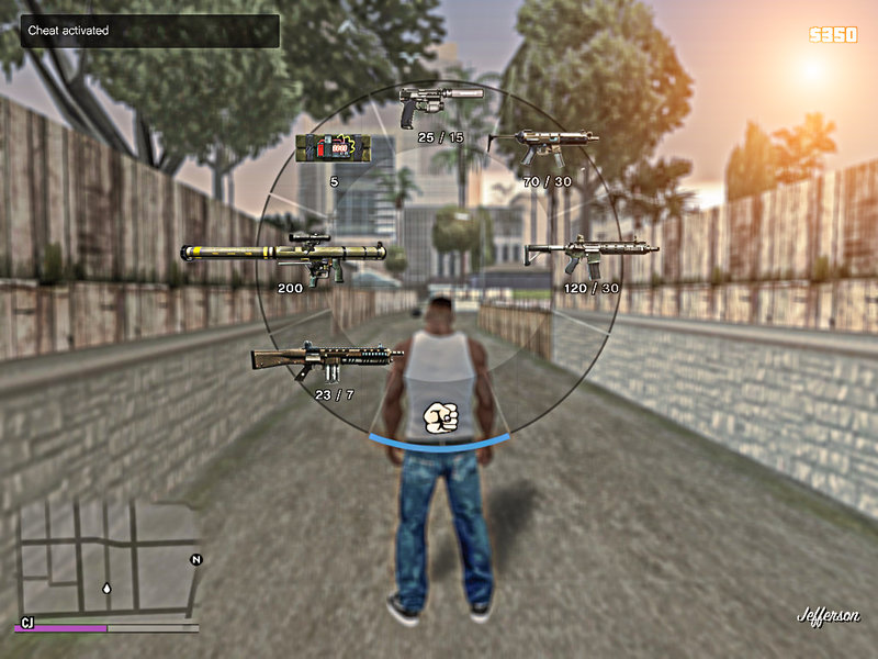 GTA San Andreas HD Colored Weapons Icons Mod - GTAinside com