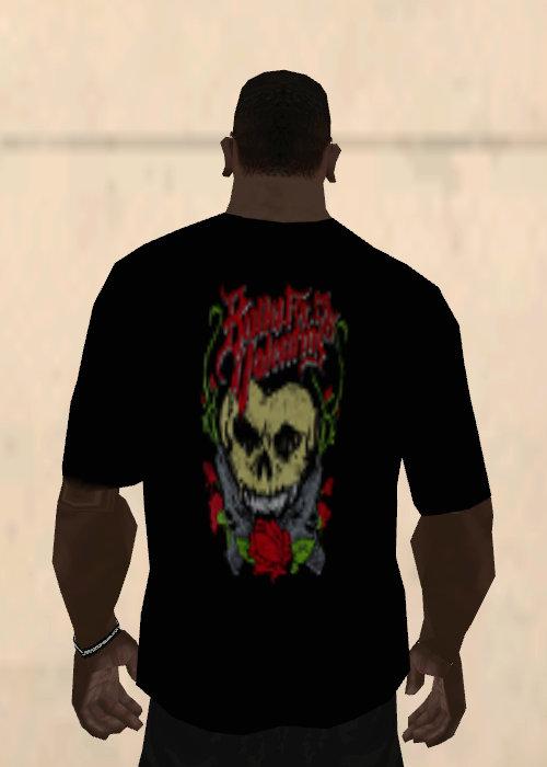 Gta San Andreas Bullet For My Valentine Heart Skull T Shirt Black