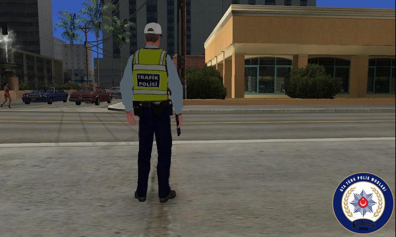 Gta San Andreas Turkish Traffic Police Skin Mod