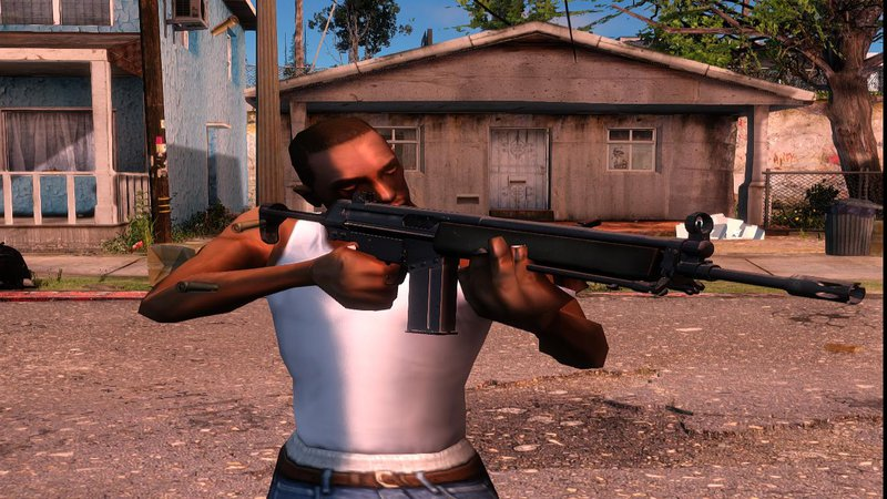 GTA San Andreas COD4 MW Remastered Weapons Pack V1 Mod