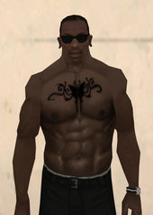 Butterfly With Tribals Left And Right  Chest Tattoo Black