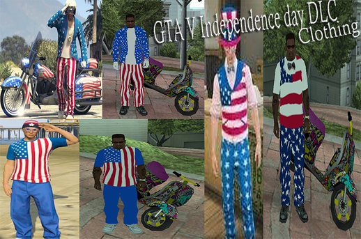 Independence Day GTA V DLC Clothing