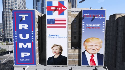 US Presidential Election Billboards