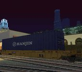 Flatcar and Container 3 Wagons