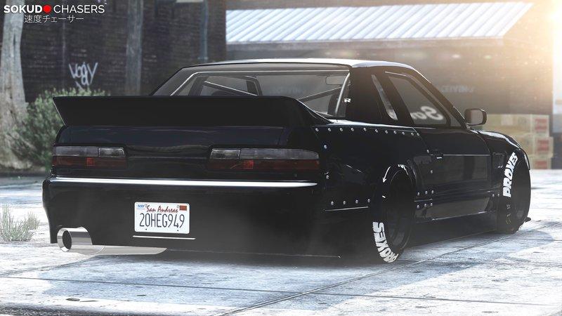GTA 5 Nissan Silvia S13 88' Tra Kyoto Rocket Bunny 6666 [Replace