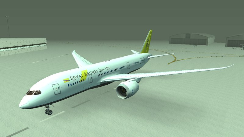 GTA San Andreas Royal Brunei Airlines Boeing 787-8 Mod
