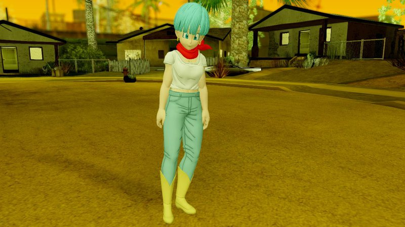 GTA San Andreas Dragon Ball Xenoverse 2 Bulma DBS v2 Mod