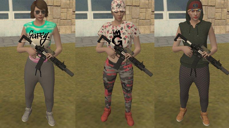 GTA San Andreas GTA Online Skins Pack (Import/Export) Mod