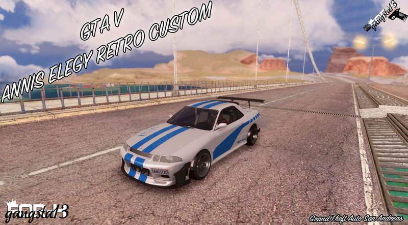 Gta San Andreas Gta V Annis Elegy Retro Custom Mod