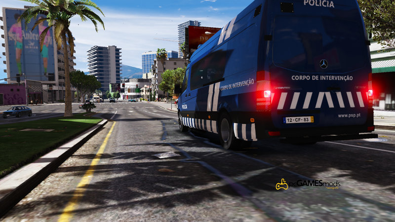 GTA 5 Portuguese Public Security Police UI/CI - Mercedes