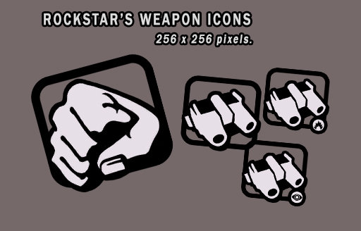 Rockstar's Weapon Icons 1.1