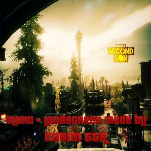 inFAMOUS Second Son Menu and Loadscreen V.2