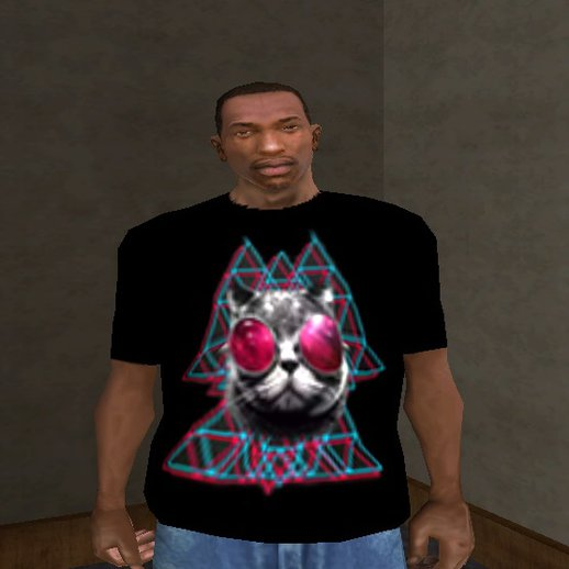 3D Space Cat T-Shirt