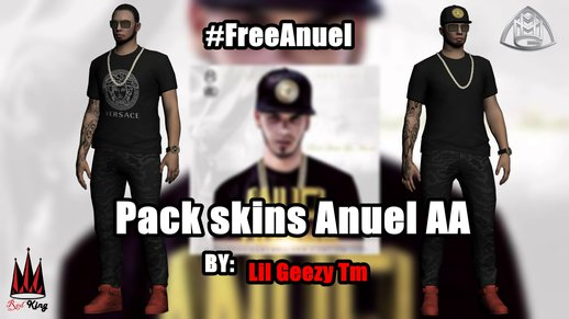 Pack Skins Of Anuel AA For GTA SA