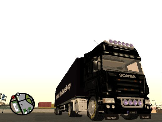 Scania R620 with RIMAU Barbershop Trailer
