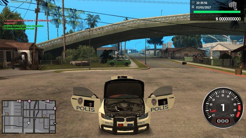 GTA San Andreas BMW M3 Turkish Police Türk Polisi TR Mod ...
