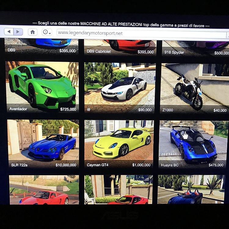 Legendary Sports Cars Gta V Online