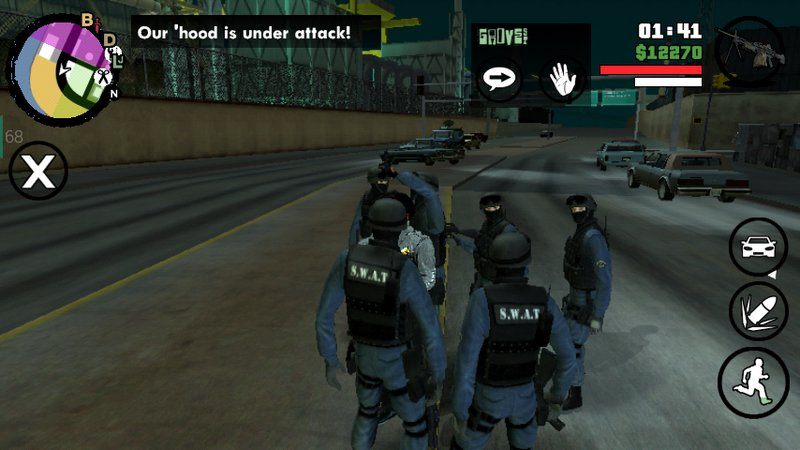 GTA San Andreas Six man SWAT Backup for Android Mod