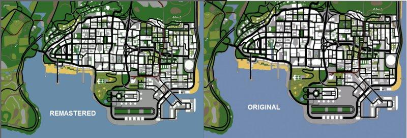GTA San Andreas Remastered Map HD for GTA San Andreas Mod