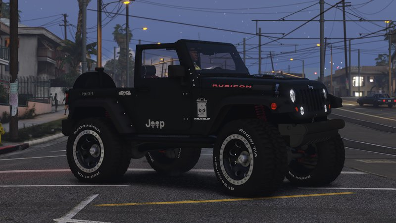 gta 5 jeep wrangler rubicon hq tuning livery mod. Black Bedroom Furniture Sets. Home Design Ideas
