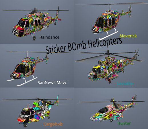 Sticker Bomb Helis