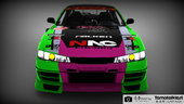 Nissan Silvia S14 D1GP With 2016 Girl und Panzer Pacific Racing Itasha Livery