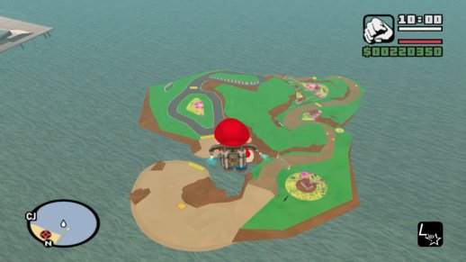 Mario Kart Map - Rooster Island