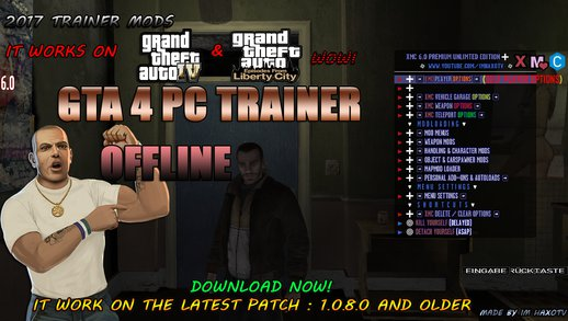 GTA 4 Offline Script Trainer NEW By Im HaxoTV