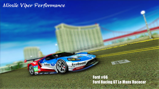 Ford #66 Ford Racing GT Le Mans Racecar