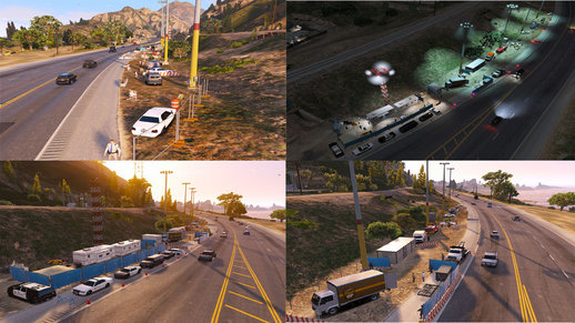 Highway Police Checkpoint [Menyoo Map] V1.0
