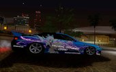 Nissan Silvia S15 With Cirno Touho Project Itasha [Glow In Dark]