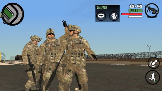 GTA:SA Android Army protection (army skin link in description)