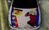 Honda Integra Tipe R With Girl und Panzer Itasha