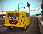 Reliant Robin Supervan III - Spongebob version