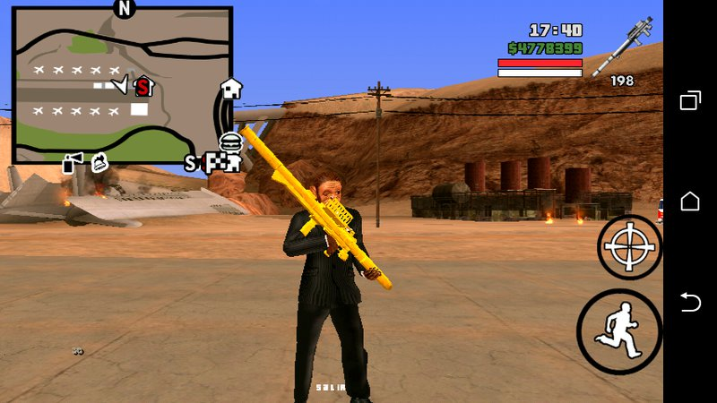 GTA San Andreas GTA V Homing Launcher No Txd For Android Mod