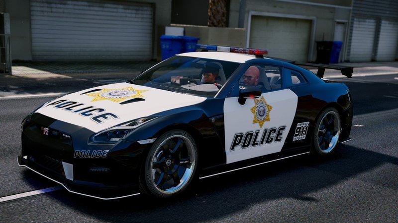 Gta 5 Nissan Gt R Nismo Police Edition Add On Tuning
