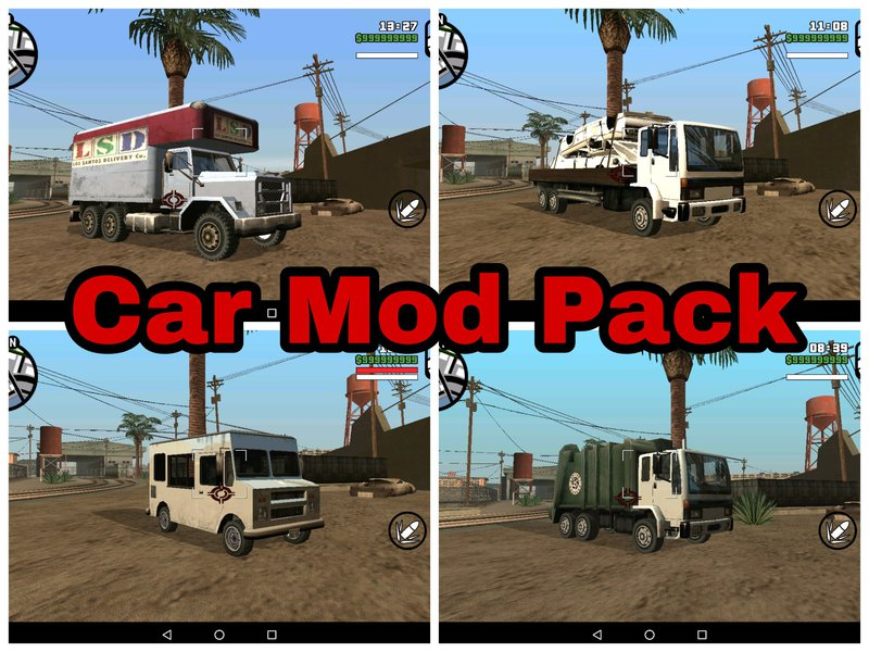 GTA San Andreas Car Mod Pack for Android (DFF ONLY) Mod - GTAinside com