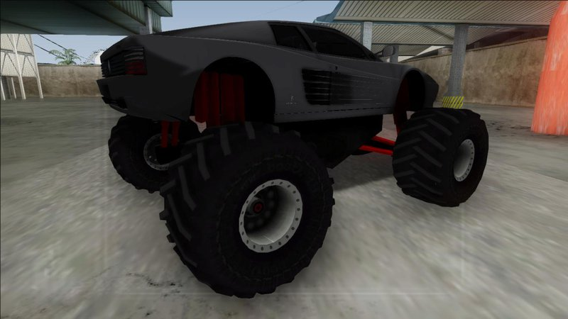 Monster truck ferrari