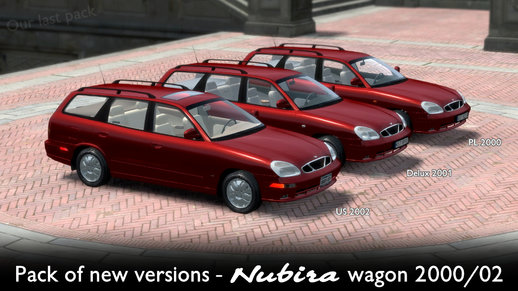 Pack Of New Versions - Daewoo Nubira II Wagon